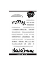 "Merry/Christmas 4""x6"" Word Stamp"
