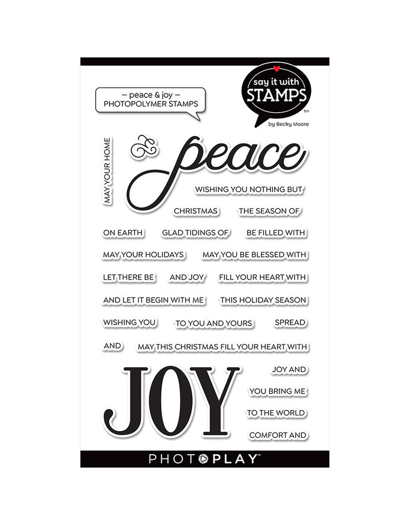 "Peace/Joy 4""x6"" Word Stamp"
