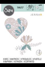 Jenna Rushforth Bold Floral HeartThinlits