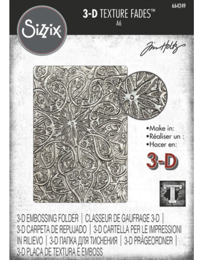 Tim Holtz Engraved 3-D Texture Fades Embossing Folder