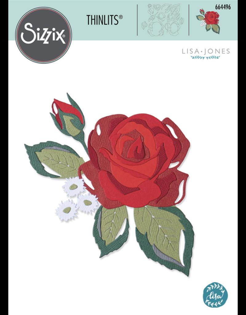 Lisa Jones Layered Rose Thinlits