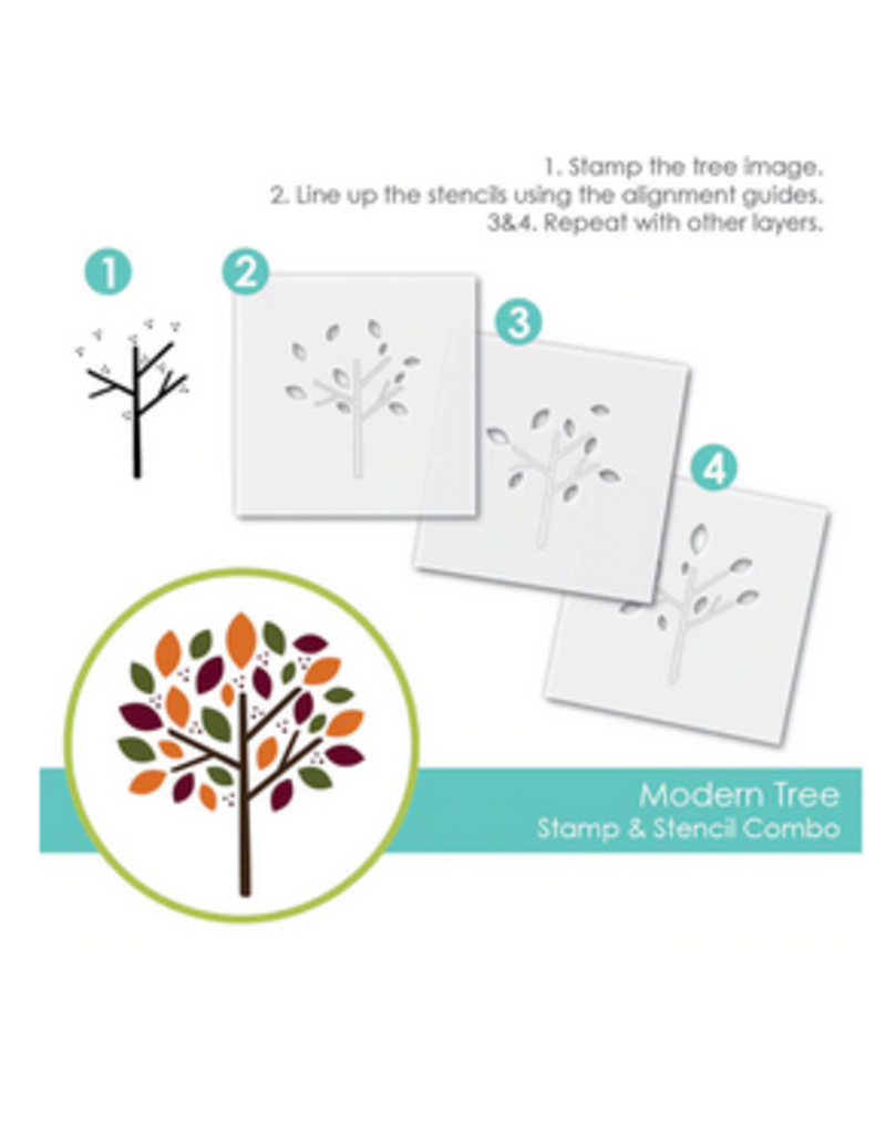 Taylored expressions Modern Tree Stamp/Stencil Combo