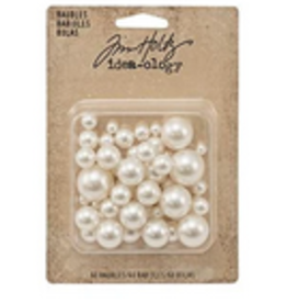 ideology Tim Holtz Pearls Undrilled Baubles