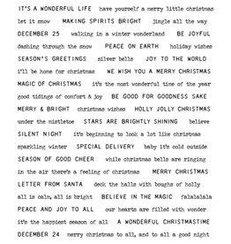 Tim Hotlz Tiny Text Christmas Stamp