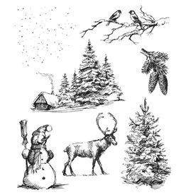 Tim Hotlz Winterscape Stamp