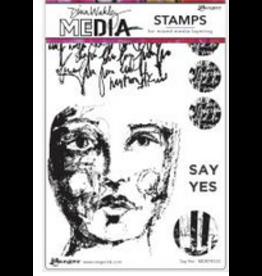 Dina Wakely Dina Wakley Say Yes Stamp