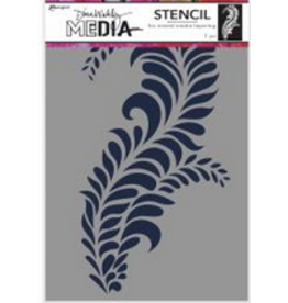 Dina Wakely Giant Flourish Stencil