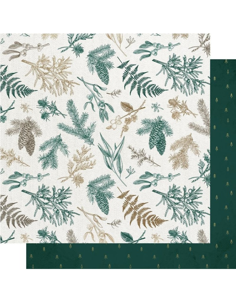 Kaisercraft Emerald Eve Paper - CHRISTMAS PINE