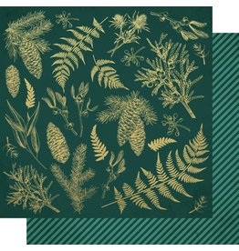 Kaisercraft Emerald Eve Paper - EMERALD LEAVES
