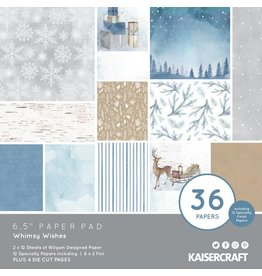 Kaisercraft Whimsy Wishes: 6.5 Paper Pad