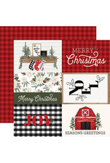 Carta Bella Farmhouse Christmas Paper: 4X6 Journaling Cards