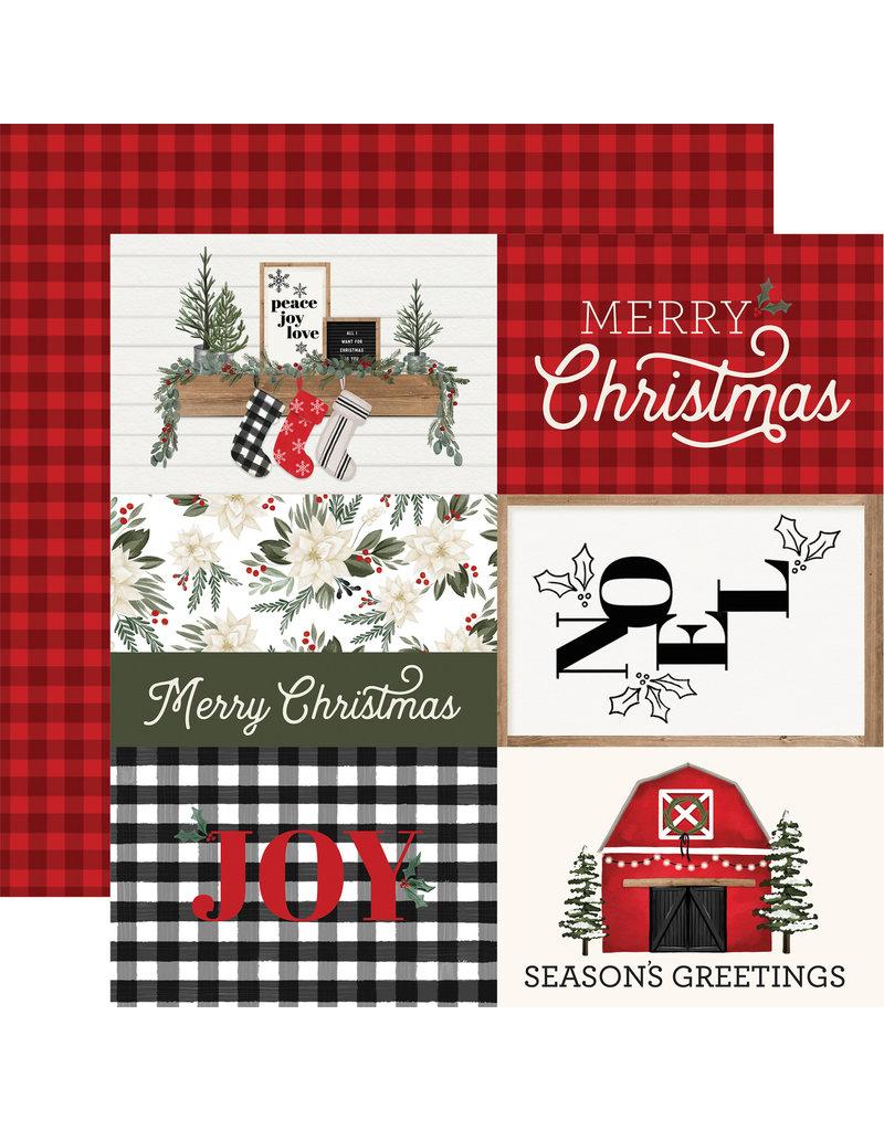 Carta Bella Farmhouse Christmas Paper: 4X6 Journaling Cards
