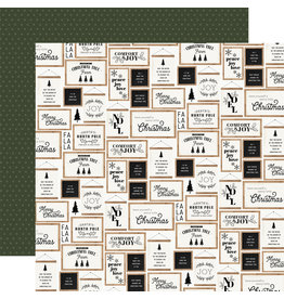 Carta Bella Farmhouse Christmas Paper: Christmas Signs