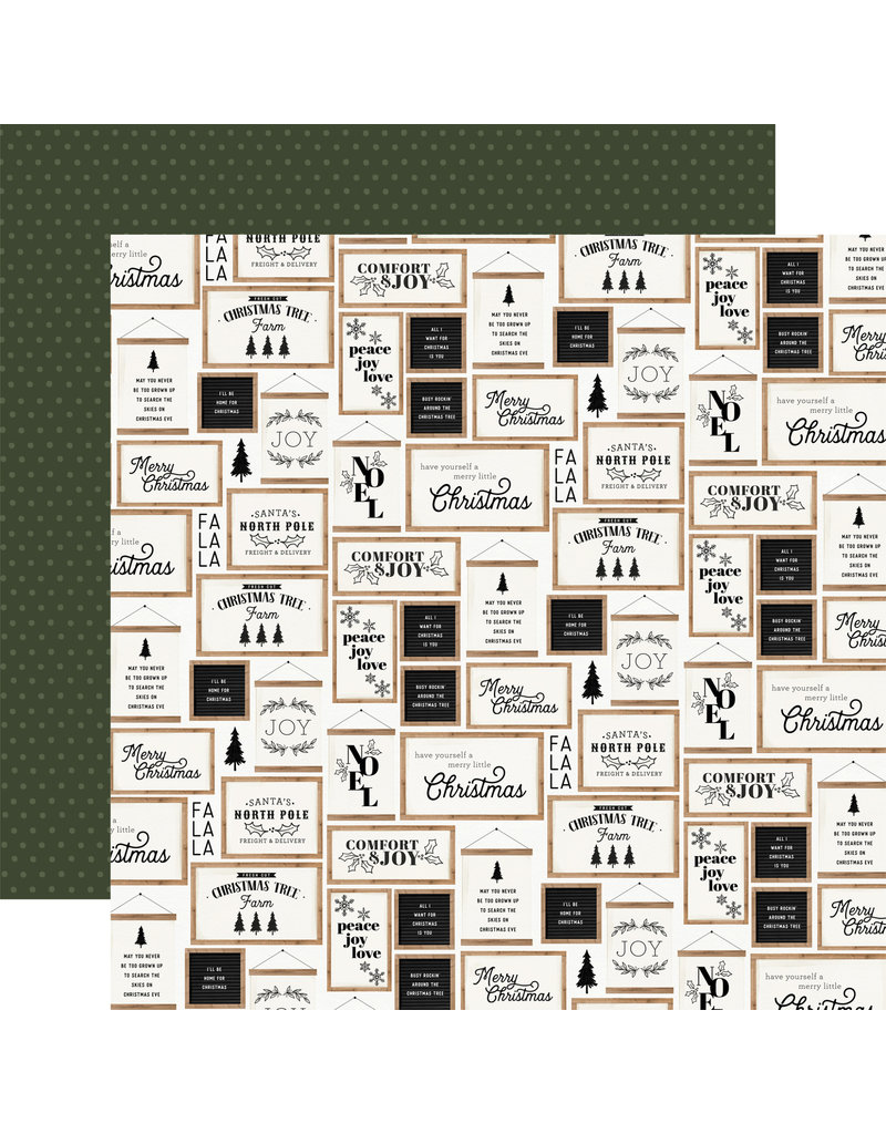 Carta Bella Farmhouse Christmas Paper: Christmas Signs