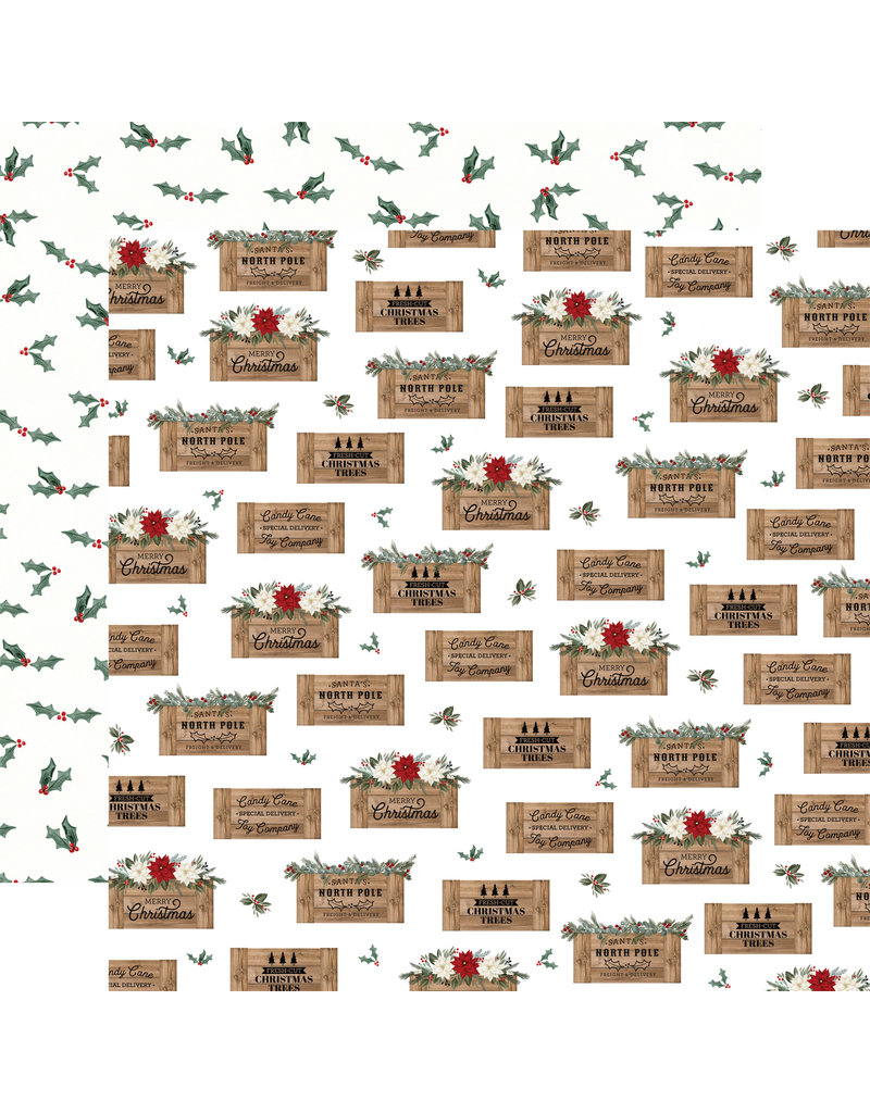 Carta Bella Farmhouse Christmas Paper: Crates