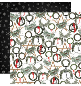 Carta Bella Farmhouse Christmas Paper: Noel Wreaths
