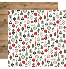 Carta Bella Farmhouse Christmas Paper: Ornaments