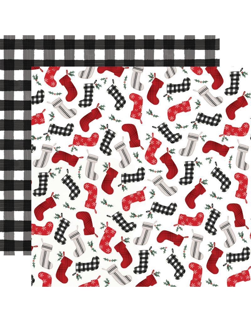 Carta Bella Farmhouse Christmas Paper: Stockings