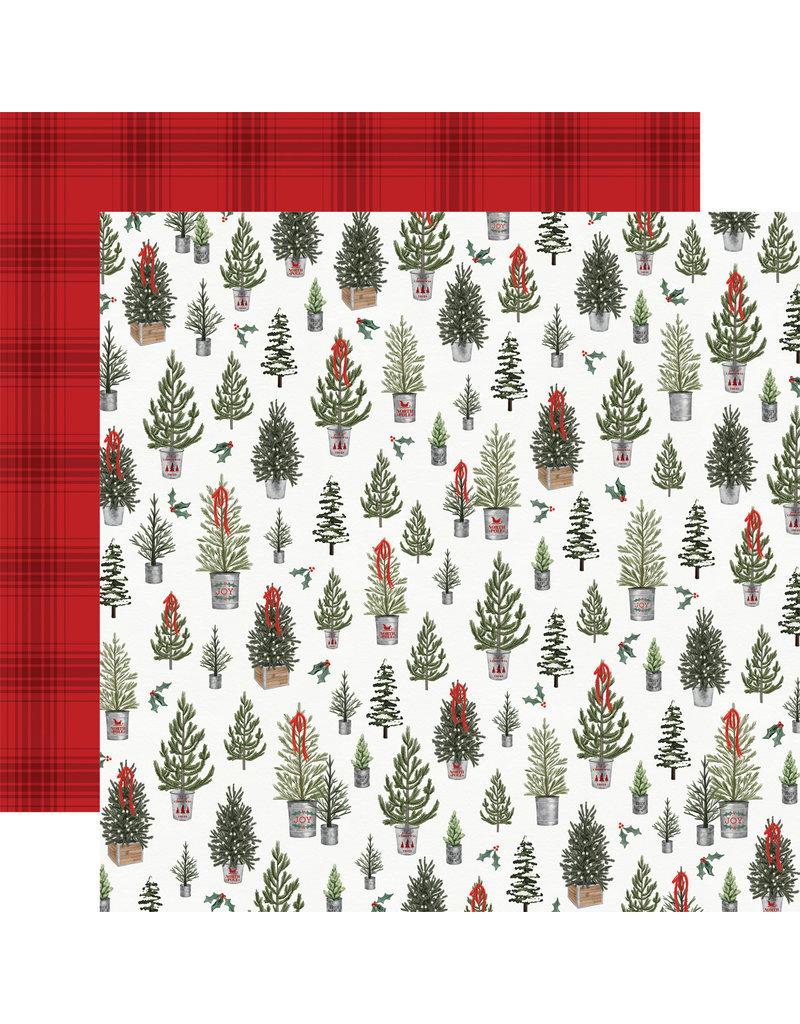 Carta Bella Farmhouse Christmas Paper: Tree Farm