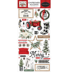 Carta Bella Farmhouse Christmas:  6x13 Chipboard accents