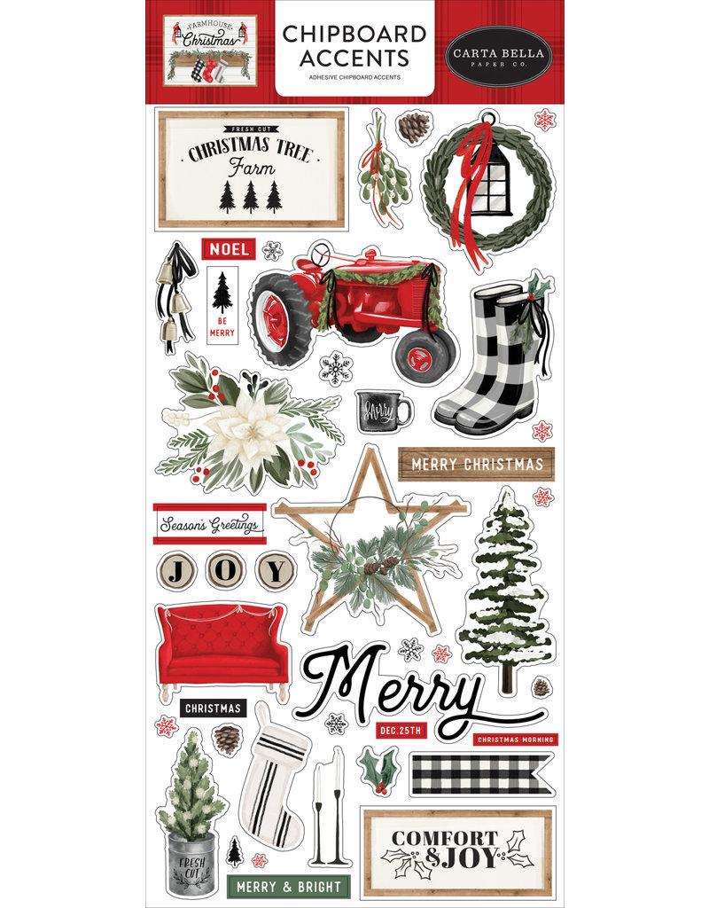 Carta Bella Farmhouse Christmas:  6x13 Chipboard accents