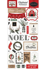 Carta Bella Farmhouse Christmas:  6x13 Chipboard Phrases