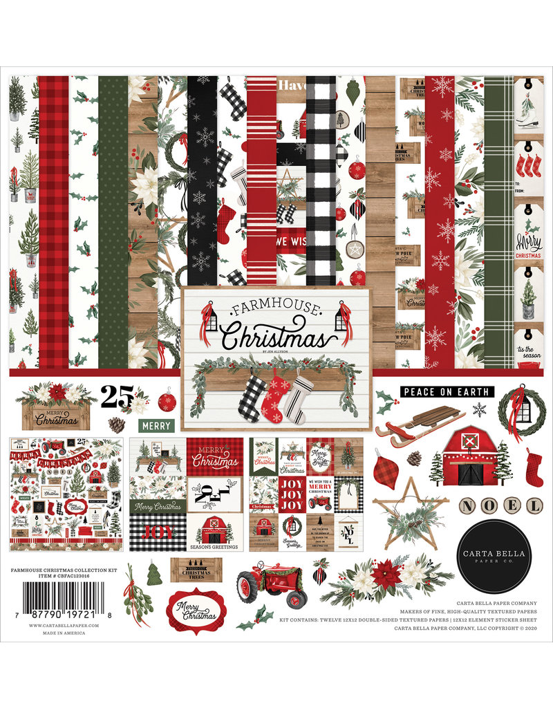 Carta Bella Farmhouse Christmas:  Collection Kit