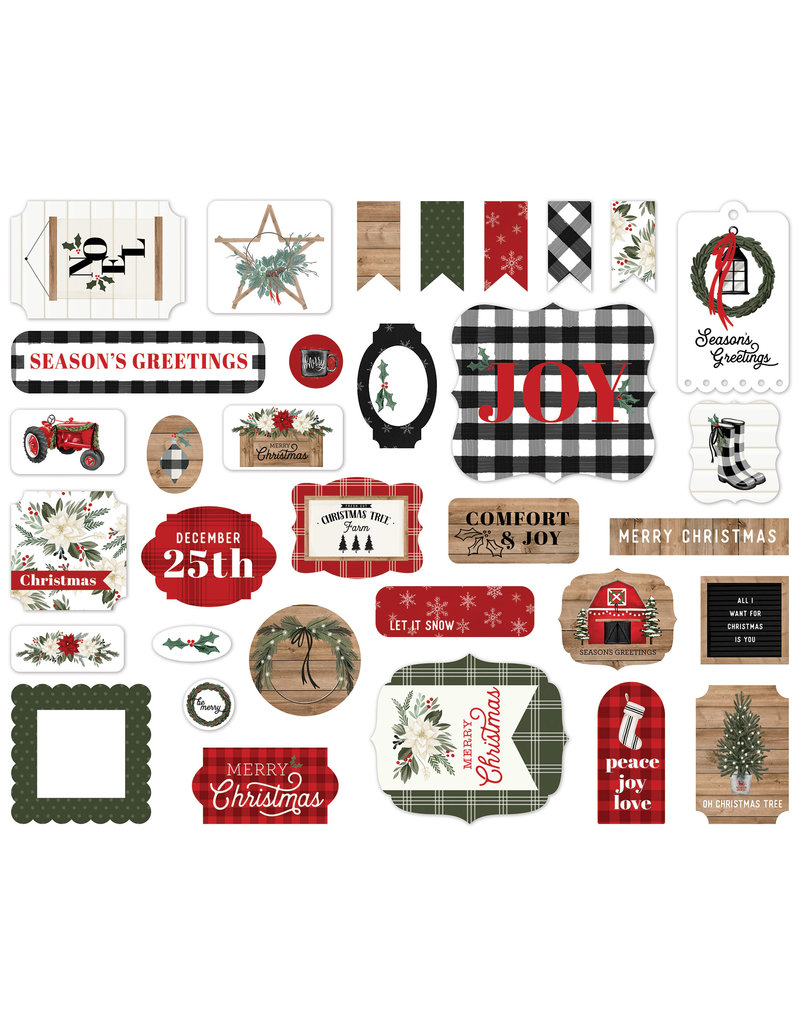 Carta Bella Farmhouse Christmas:  Ephemera