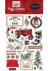 Carta Bella Farmhouse Christmas:  Puffy Stickers