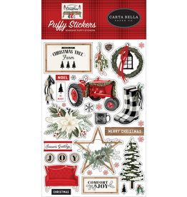 Carta Bella Farmhouse Christmas:  Puffy Stickers