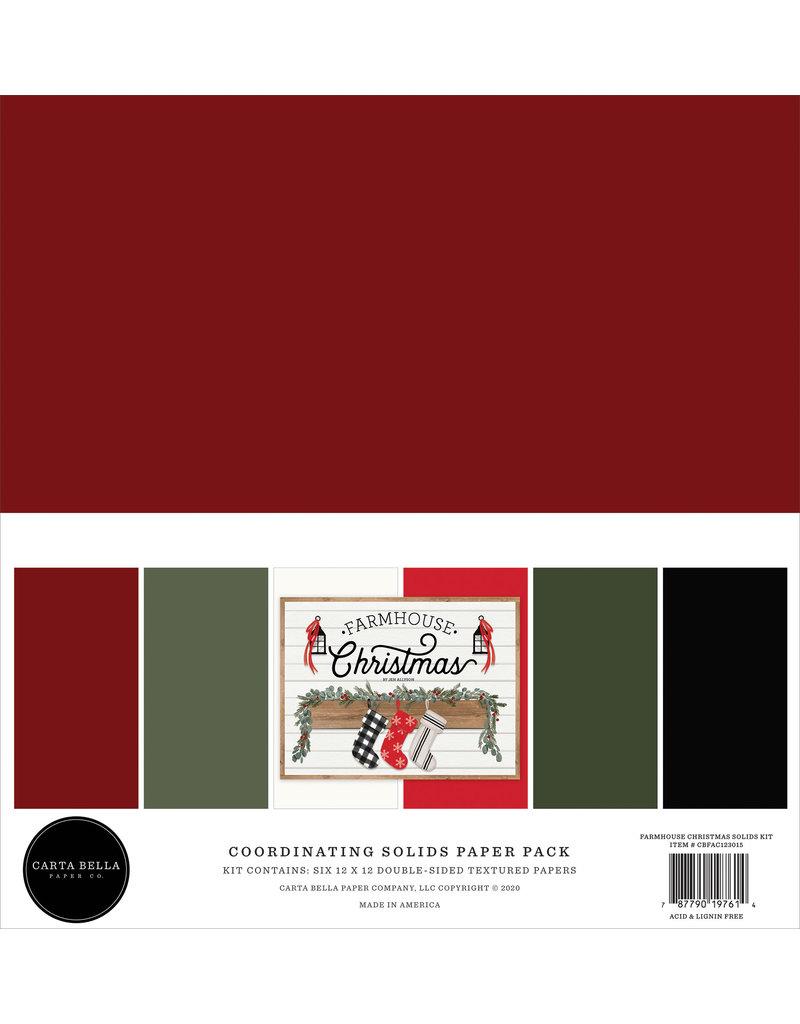 Carta Bella Farmhouse Christmas:  Solids Kit