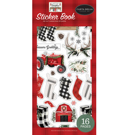 Carta Bella Farmhouse Christmas:  Sticker Book