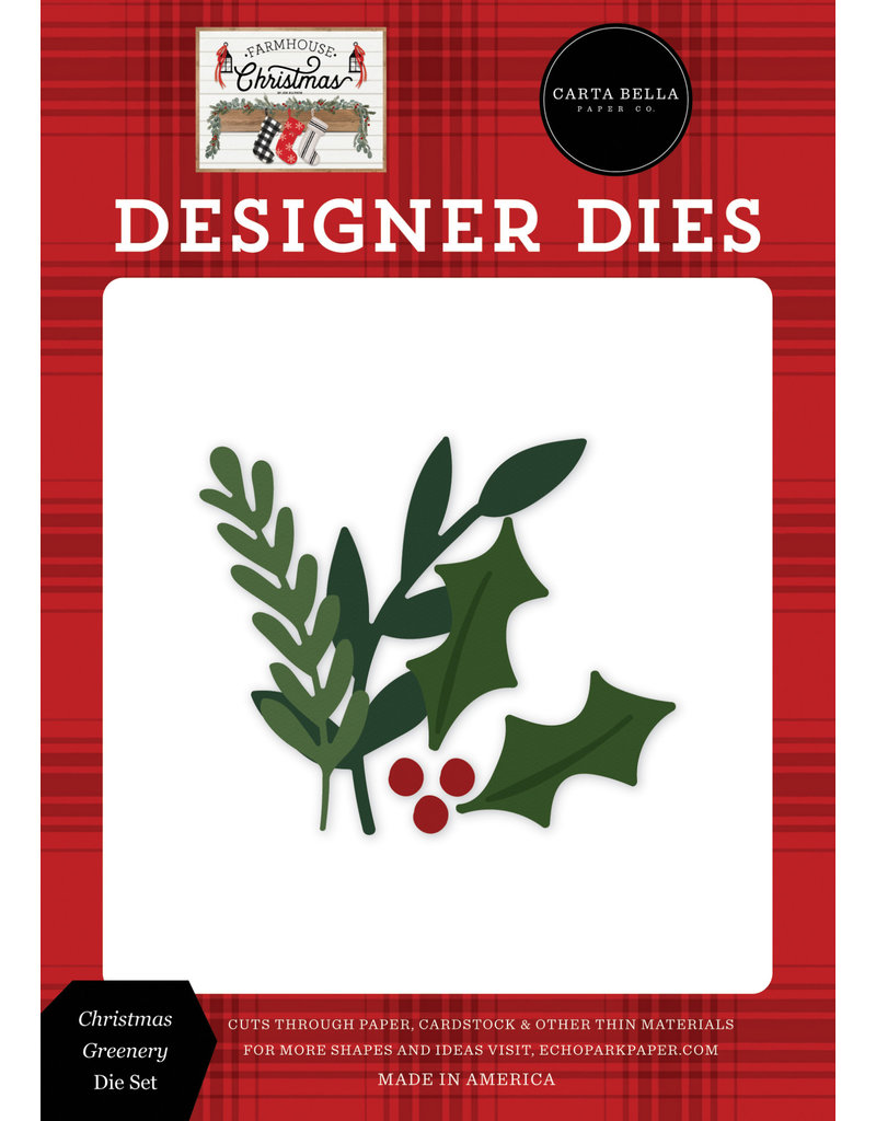 Carta Bella Farmhouse Christmas: Christmas Greenery Die Set