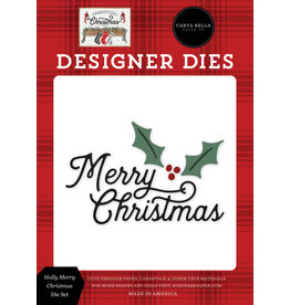 Carta Bella Farmhouse Christmas: Holly Merry Christmas Die Set