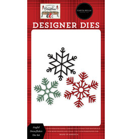 Carta Bella Farmhouse Christmas: Joyful Snowflakes Die Set