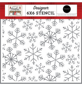 Carta Bella Farmhouse Christmas: Merry Snowflakes Stencil