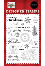 Echo Park Farmhouse Christmas: Peace Love Joy Stamp Set