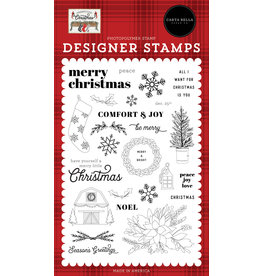 Echo Park Farmhouse Christmas: Peace Love Joy Stamp Set