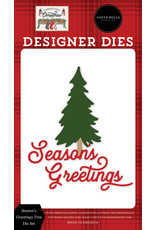Carta Bella Farmhouse Christmas: Season's Greetings Tree Die Set