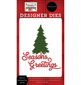 Carta Bella Farmhouse Christmas: Season's Greetings Tree Die Set
