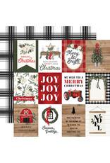 Carta Bella Farmhouse Christmas Paper: 3X4 Journaling Cards