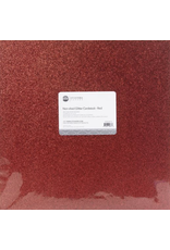 ETCETERA Papers Non Shed Glitter Cardstock: Red
