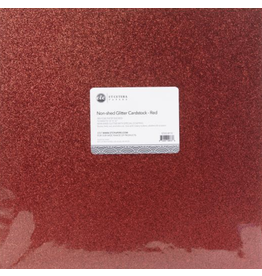 ETCETERA Papers Glitter Cardstock Non-Shed: Red