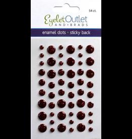 Eo Enamel Dots Glitter Red