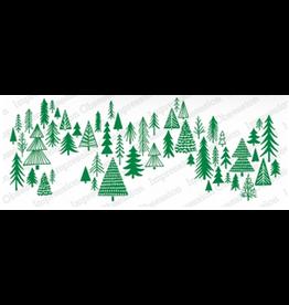 Impression Obsession IO Slim Scenes Stamp Lg Sketched Trees