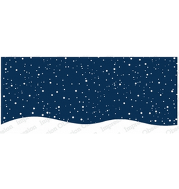 Impression Obsession IO Slim Scenes Stamp Snowy Night