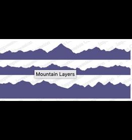 Impression Obsession IO Slim Scenes Stamp Mountain Layers