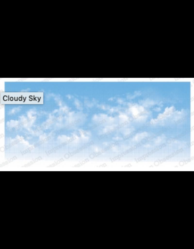 Impression Obsession IO Slim Scenes Stamp Lg Cloudy Sky