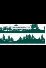 Impression Obsession IO Slim Scenes Stamp Lg Tree- lined Hillside Duo