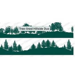 Impression Obsession IO Slim Scenes Stamp Lg Tree- lined Hillside Duo